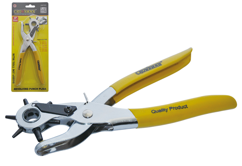 "Crownman 9"" Revolving Punch Plier"
