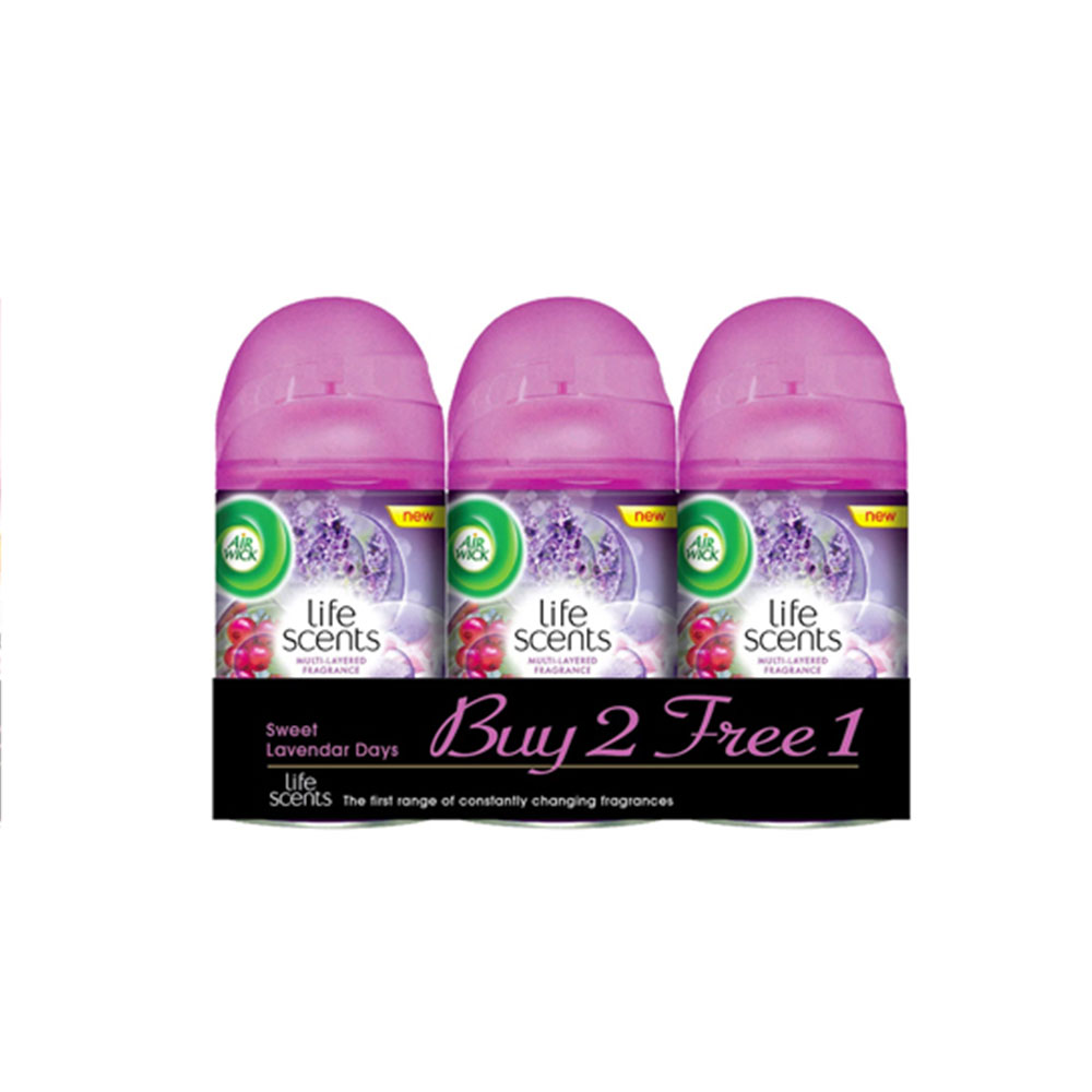 Air Wick Life Scents Freshmatic Sweet Lavender Refill 250ml 2+1 (Value Pack)