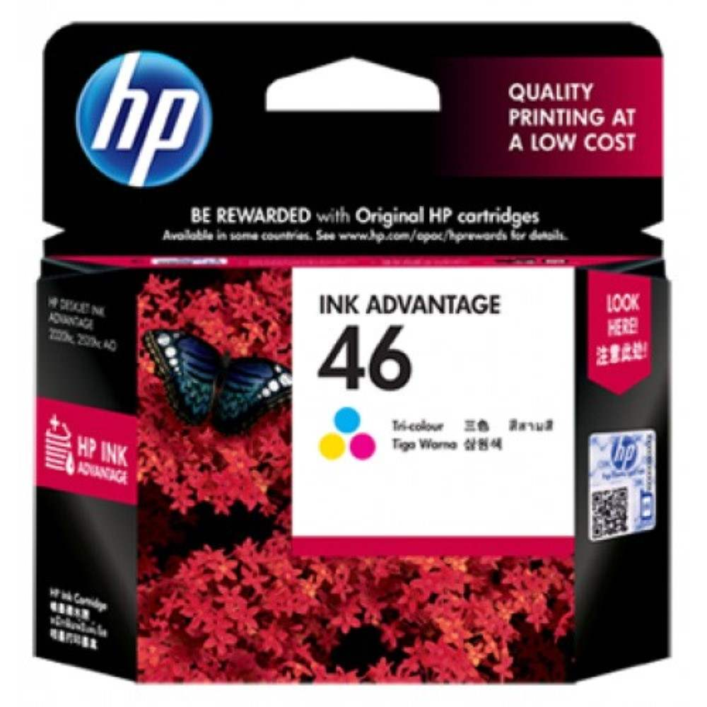 HP 46 Tri-color Ink Cartridge (CZ638AA)
