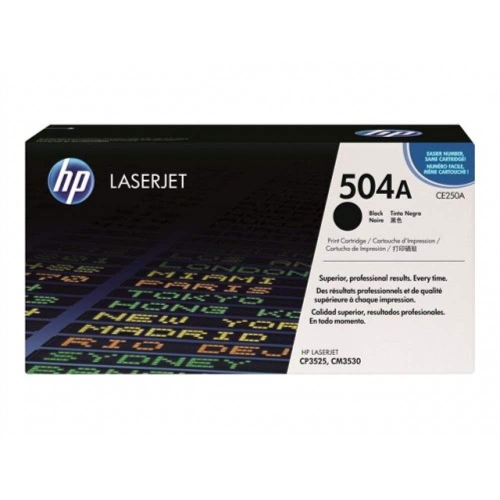 HP 504A Black LaserJet Toner Cartridge (CE250A)