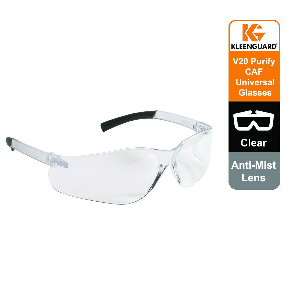 KleenGuard™ V20 Purity Anti-Mist Eyewear 25654 - Clear lens, Universal, 1x1 (1 glasses)