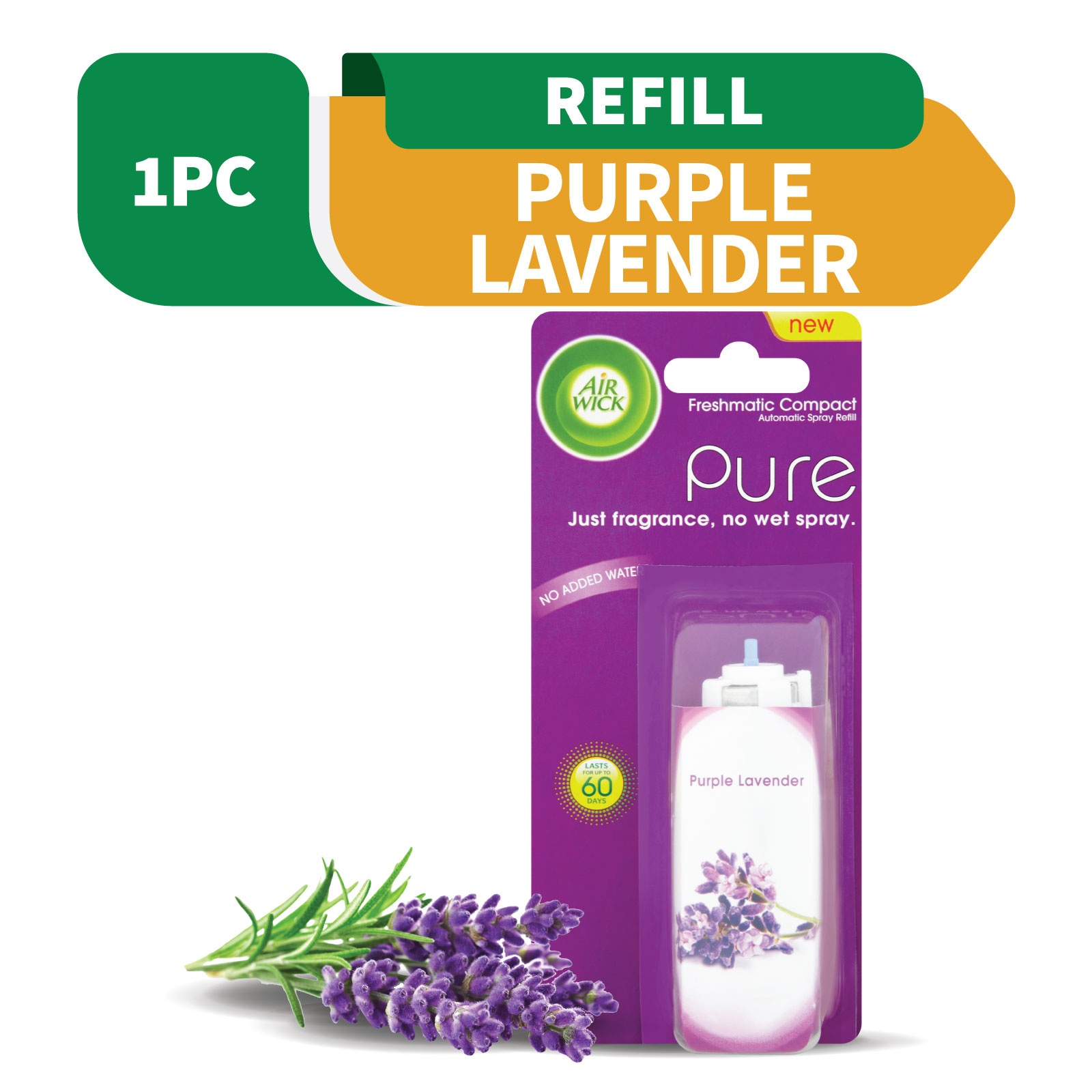 Air Wick Freshmatic Compact Purple Lavender Refill 24ml