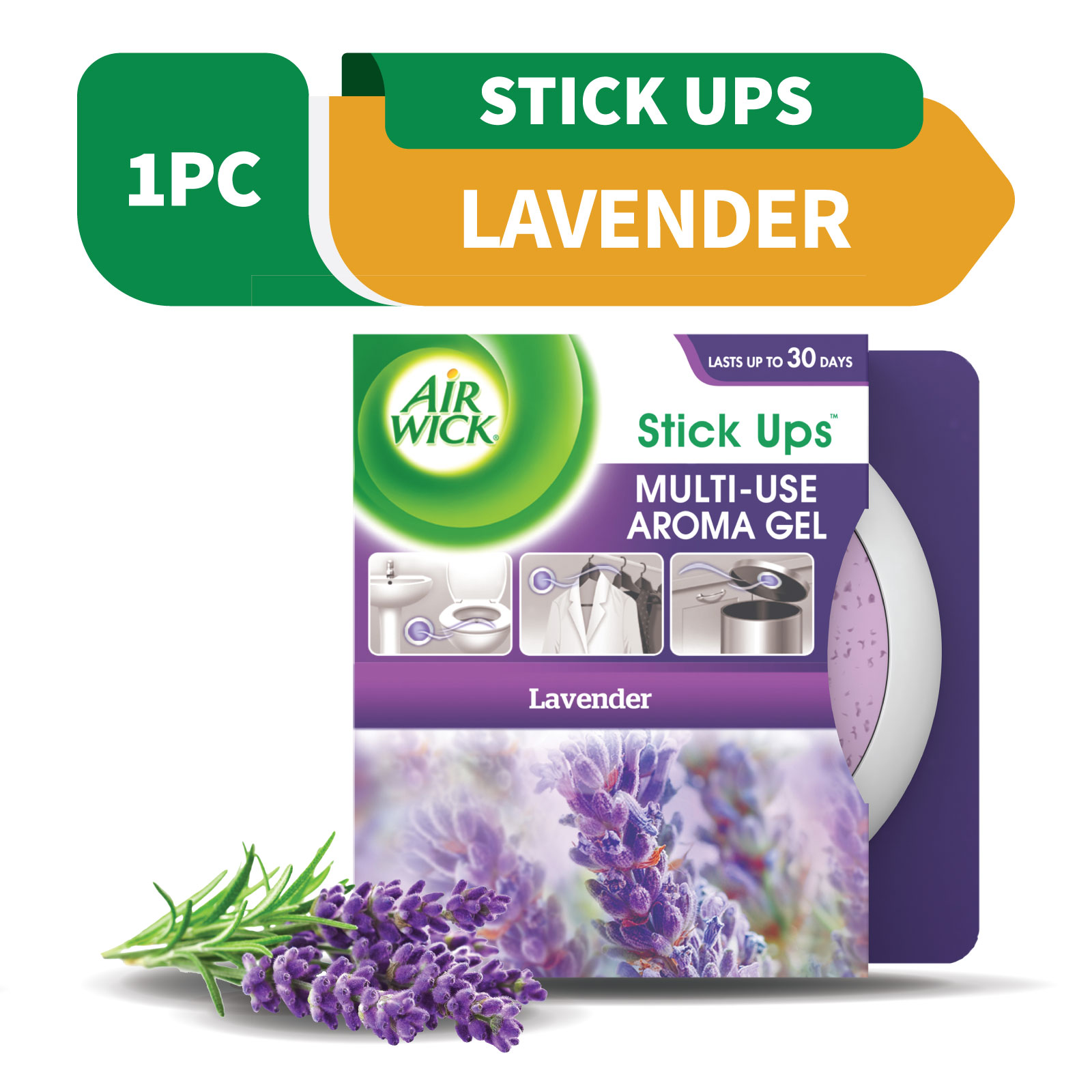 Air Wick Stick Up Gel Lavendar 30g