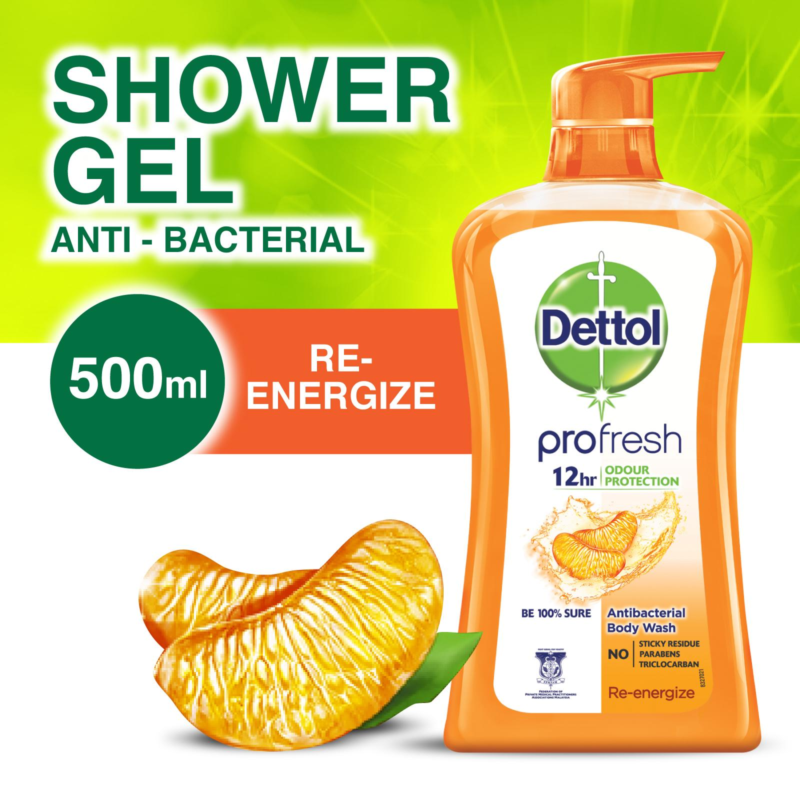 Dettol Shower Gel Re-energize 500ml