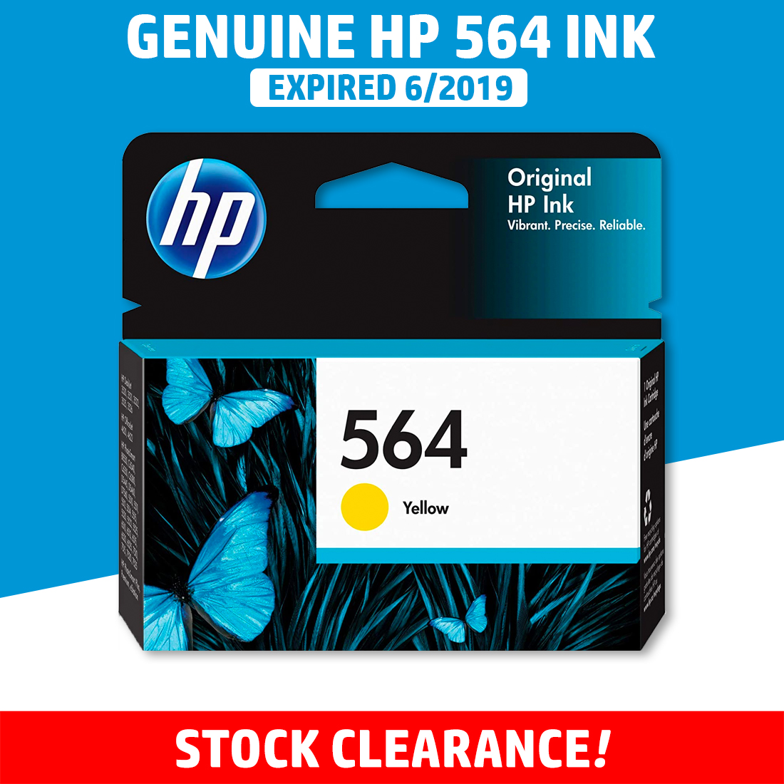 [CLEARANCE] Original HP 564 Color Ink Cartridge - Genuine HP Ink CB318WA CB319WA CB320WA Color Inks (300 Pages)