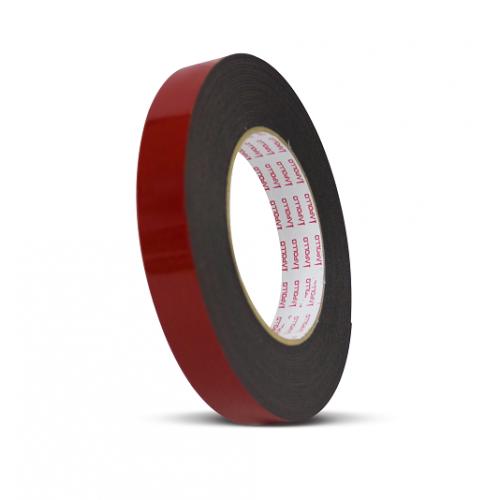 Apollo Heavy-Duty Double Sided PE Black Foam Tape - 24mm x 8m