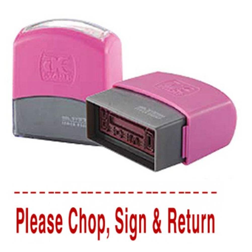 AE Flash Stamp - Please Chop,Sign and Return