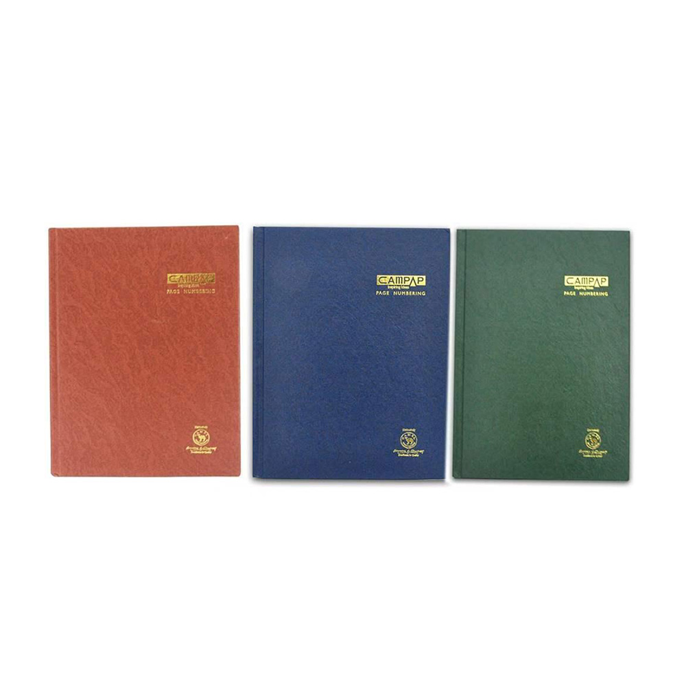 Campap F5 Hard Cover Numbering Quarto Book