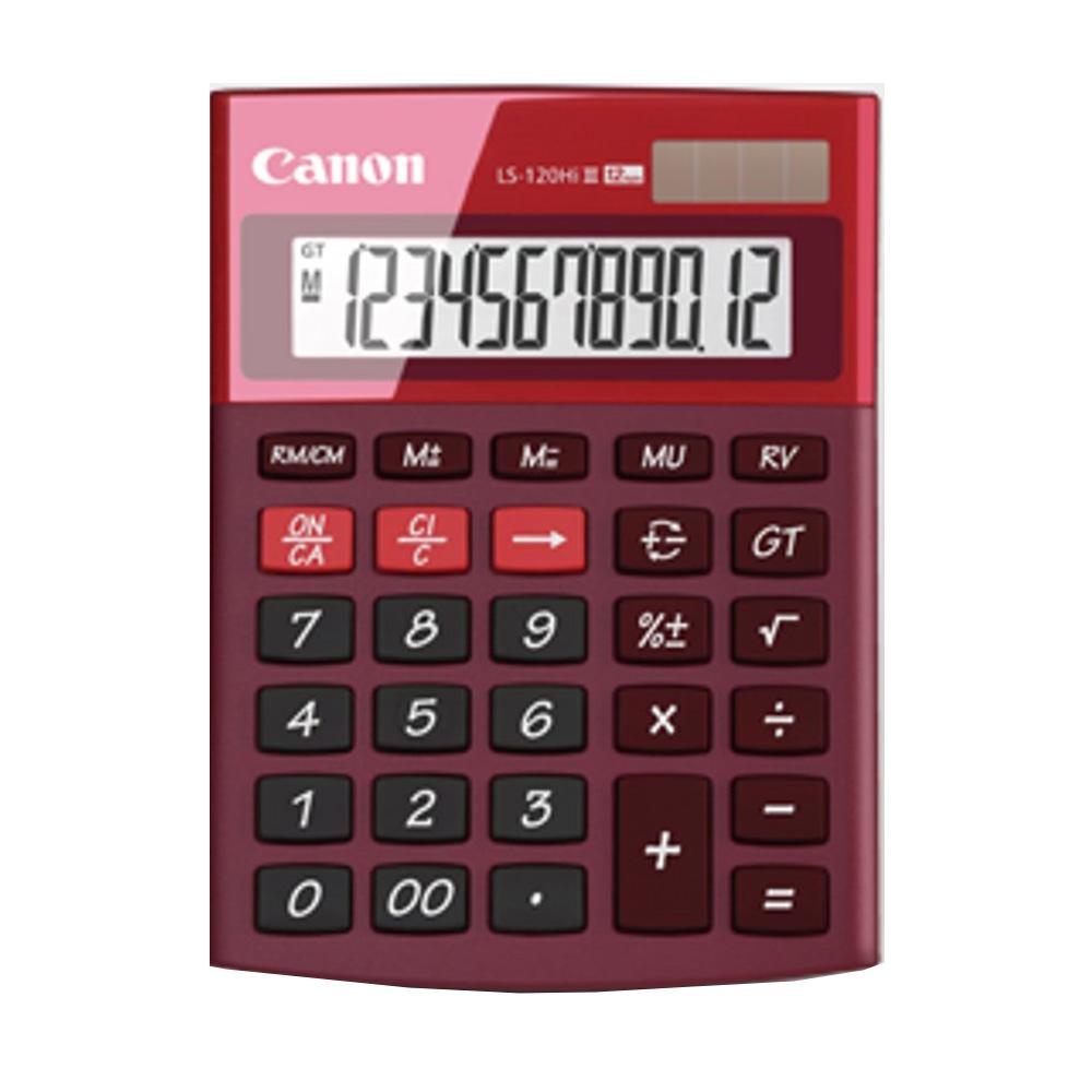 Canon LS-120Hi-III-RE12 Digits Desktop Calculator (Red)