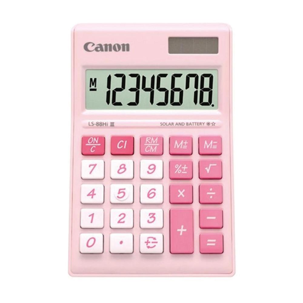 Canon LS-88Hi-III-PI 8 Digits Desktop Calculator (Pink)