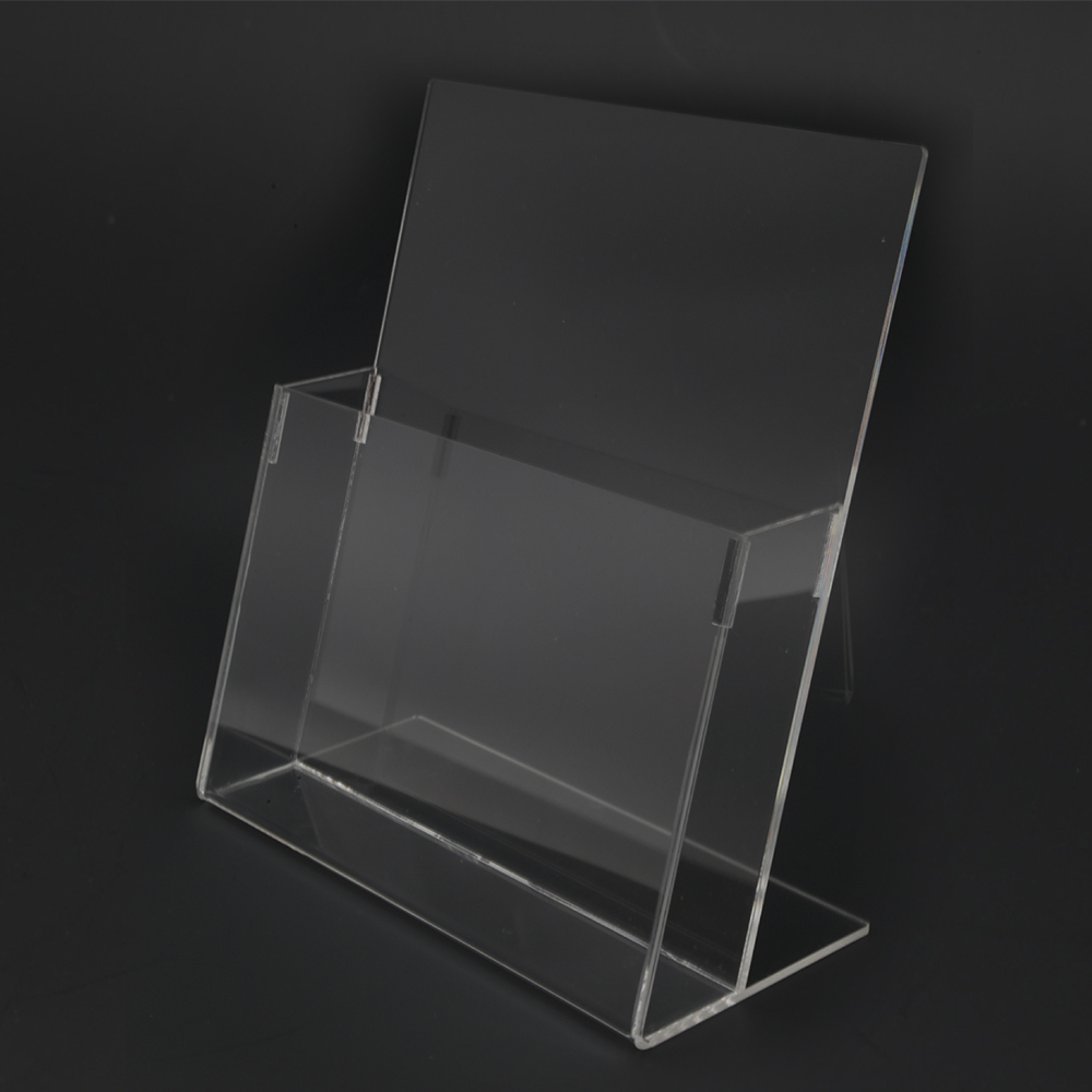 Acrylic A4 Brochure Holder Stand 1 Layer - 210mm (W) x 297mm (H) -dont order