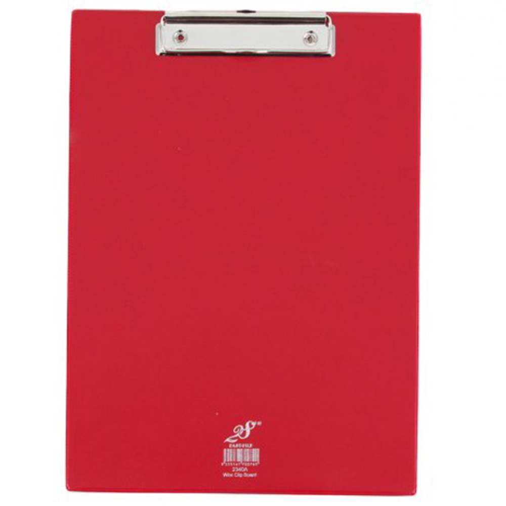 EAST FILE PVC WIRE CLIPBOARD-RED-2340F (Item No: B11-27 RED)