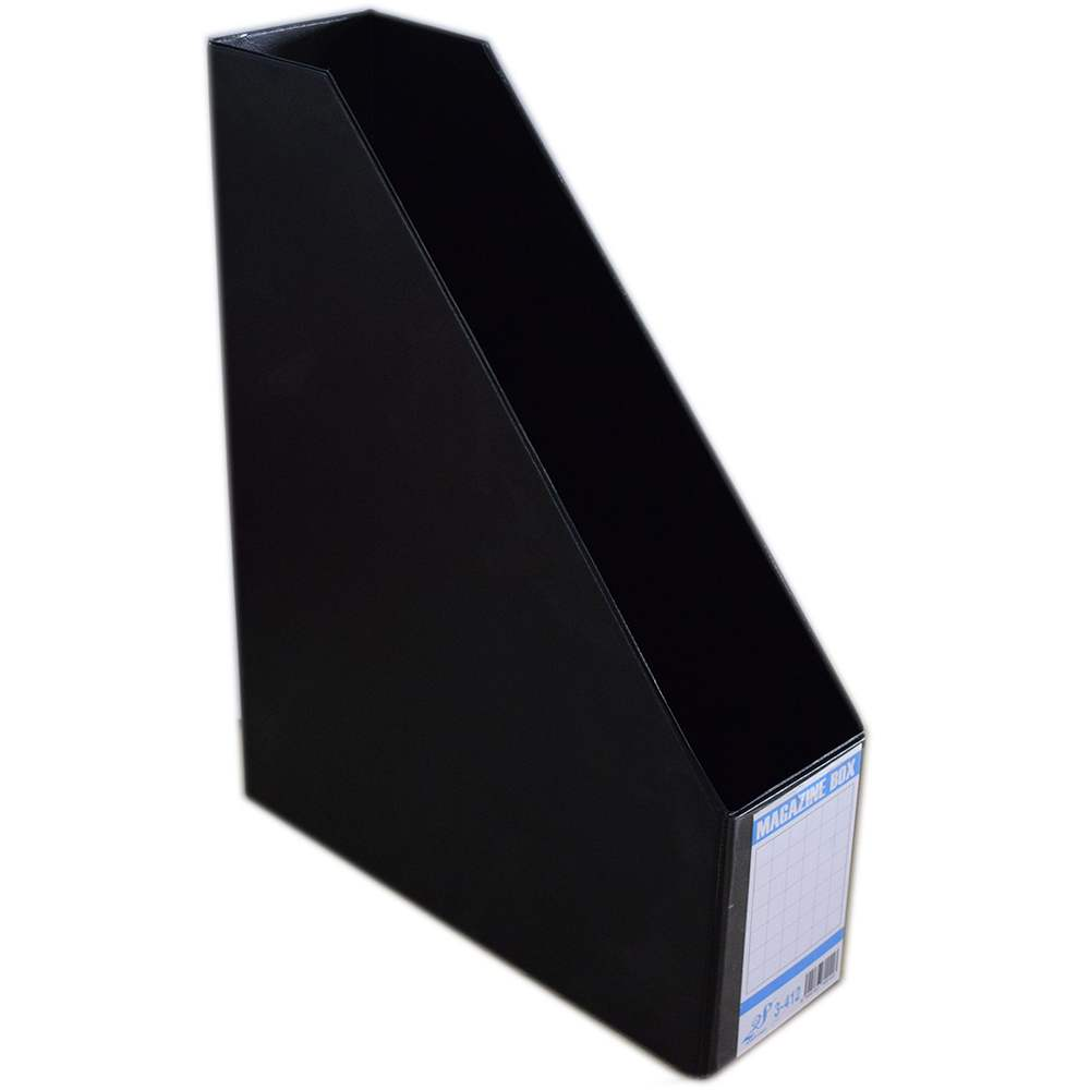 """EAST FILE PVC MAGAZINE BOX 412 4"""" BK (Item No: B11-95 BK)"""