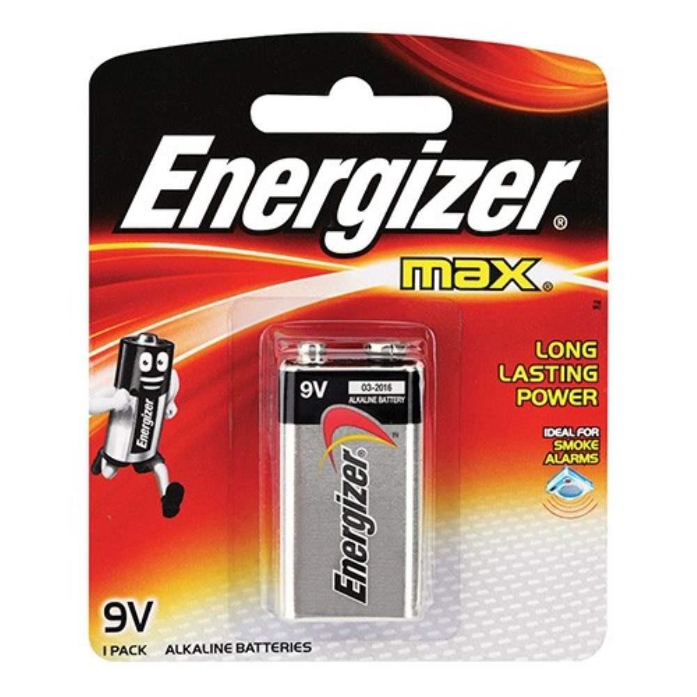 Energizer MAX 9V Alkaline Batteries (Item No: B06-01) A1R1B85 [220029782]