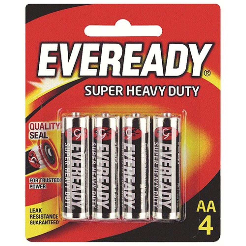 EVEREADY Super Heavy Duty AA Carbon Zinc Batteries - AA Size - 4pcs
