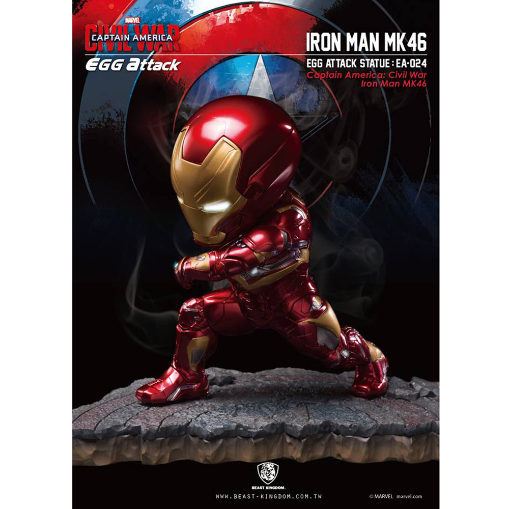 Marvel Captain America: Civil War Egg Attack - Iron Man MK46 Statue (EA-024)