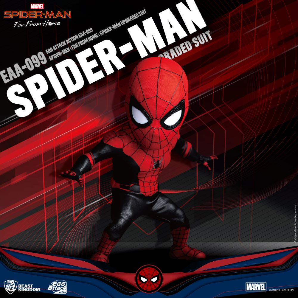 Marvel Comic: Egg Attack Action Figure: Spider-Man Far From Home - Upgraded Suit (EAA-099)