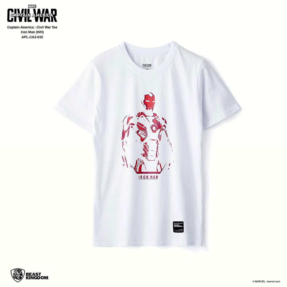 Marvel Captain America: Civil War Tee Iron Man - White, Size S (APL-CA3-032)