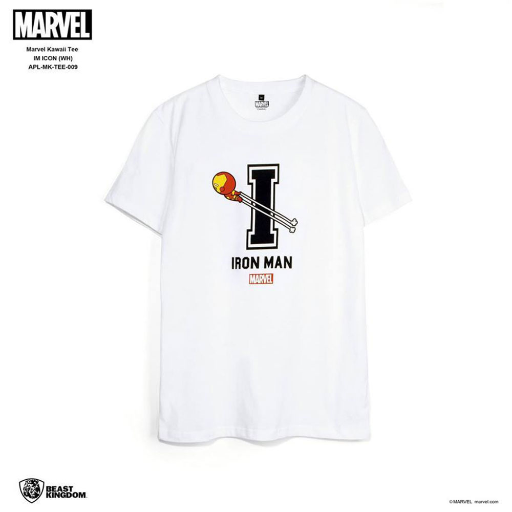 Marvel: Marvel Kawaii Tee Iron Man Icon - White, Size M (APL-MK-TEE-009)